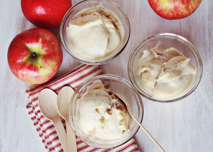 Baked apple and bourbon ice cream @Elsie Larson of A Beautiful Mess