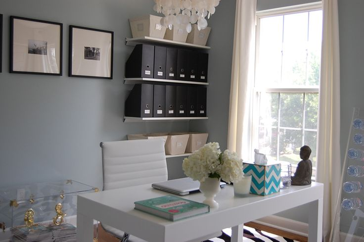 Pin by janae britt on craft room studio office pinterest for Benjamin moore smoke gray