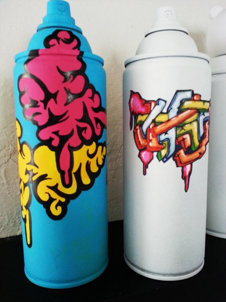 Graffiti On Spray Paint Cans Fmp Pinterest
