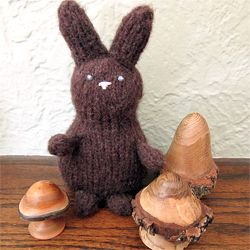 Knit up a cute Chocolate Bunny with this free pattern. He's perfect for filling Easter baskets without adding inches to your waist.