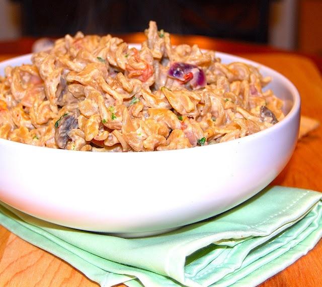Pasta with Chipotle Cashew Cream | Recipe