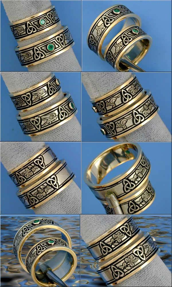 Gold celtic ring stone our wedding band search pinterest