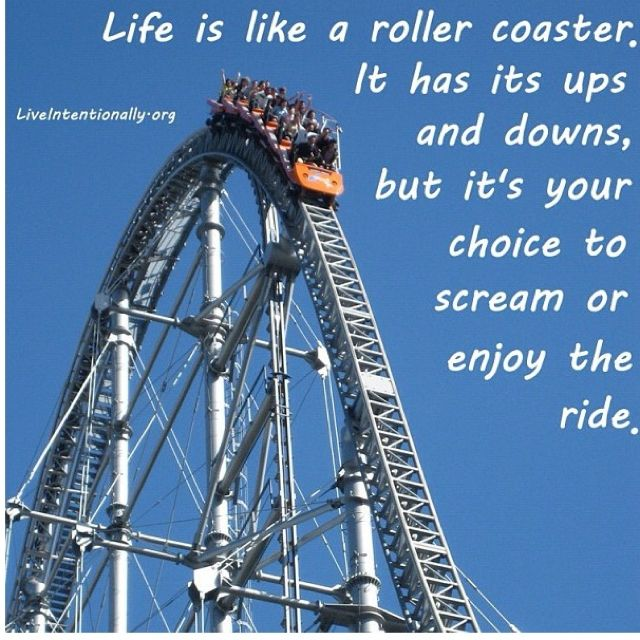 Life is like a roller coaster... Inspirational Quotes