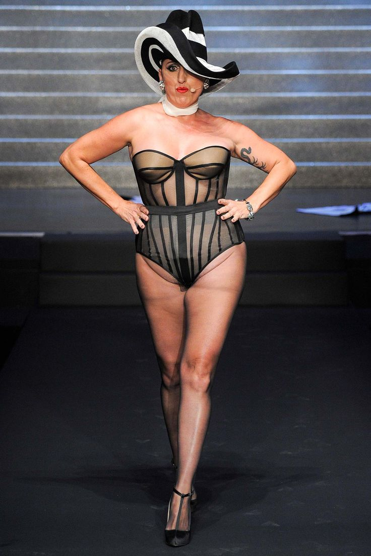 Jean Paul Gaultier Spring 2015 Ready-to-Wear - Look 10 - Style.com - and speaking of runway crotches...SERIOUSLY?!!!