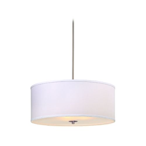 Classics lighting large modern drum pendant light with white shade