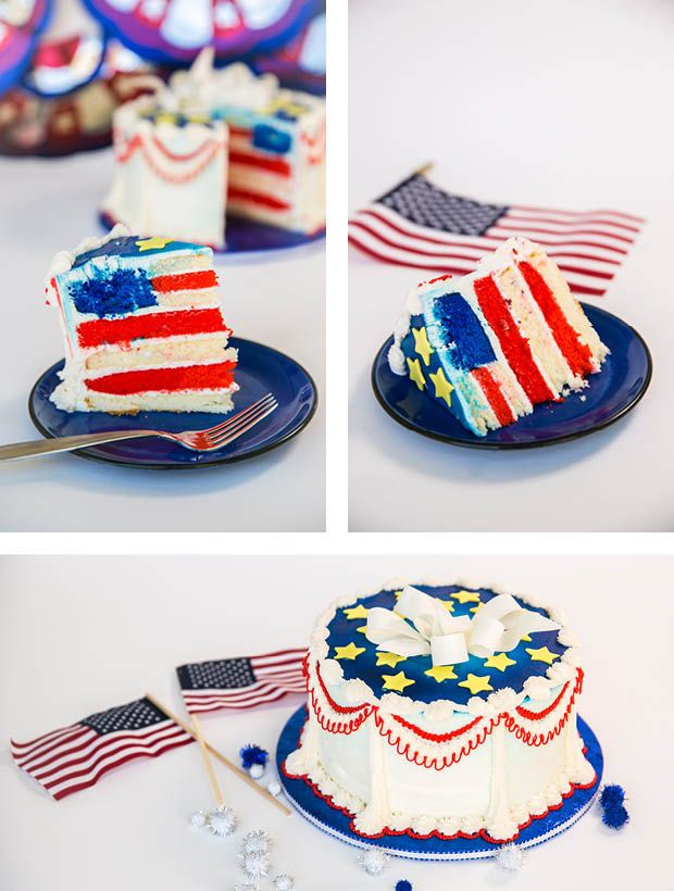 4th of July Cake how-to on the CreativeLive blog
