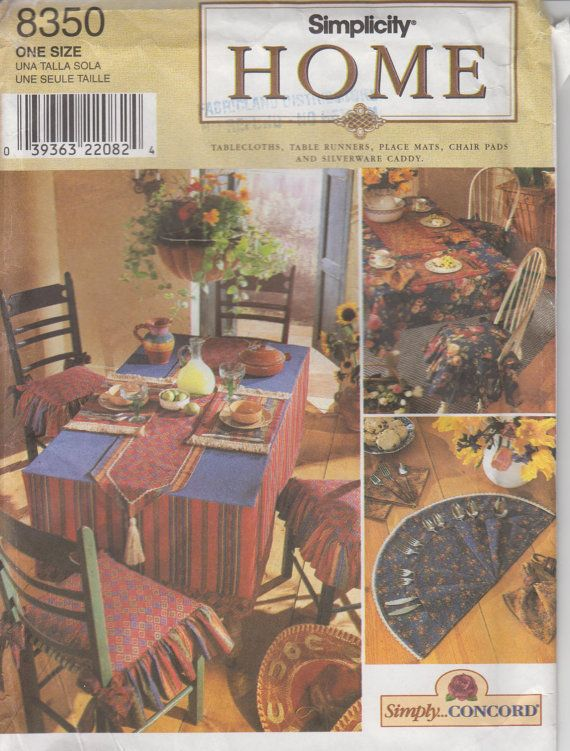 90s home decor sewing pattern tablecloth table runners if you grew up in the 90s this will take you back to your