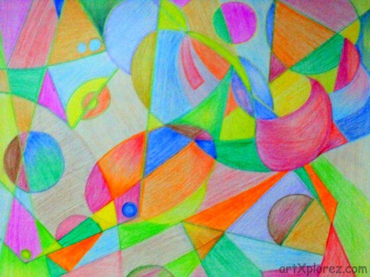 Abstract pencil shading art work