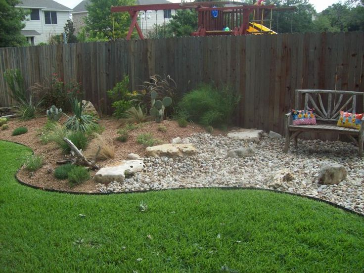 Xeriscape backyard oasis pinterest for Dry scape landscaping