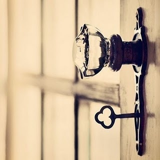 Love keys + this crystal doorknob.