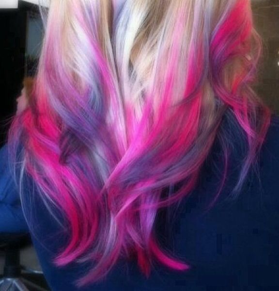 blue and pink ombre hair hairstylegalleriescom