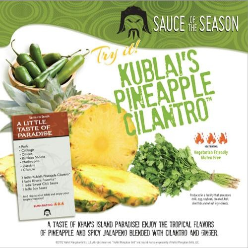 Kublai's Pineapple Cilantro | Coming soon to a kitchen near you | Pin ...