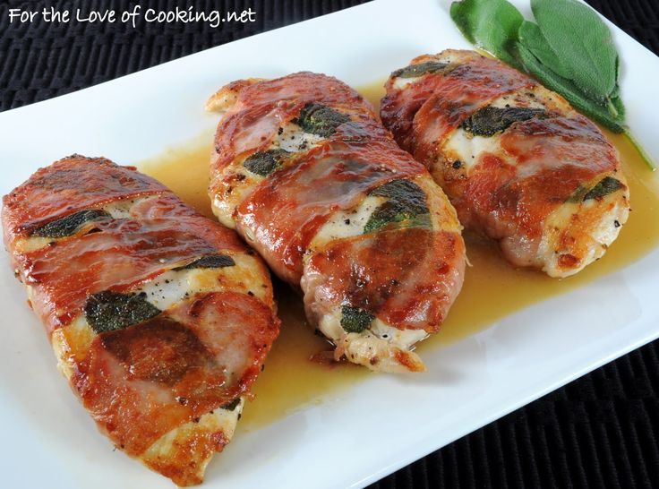 Chicken Saltimbocca Chicken stuffed with cheese, wrapped in prosciutto ...