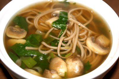 Recipe for Soba Noodle Soup with Spinach and Mushrooms | Two Peas ...
