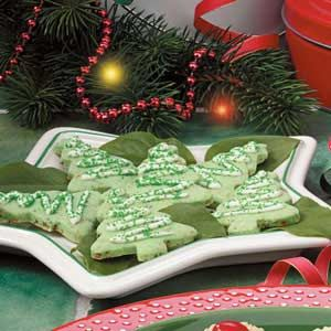 Lime Christmas Cookies - These are very tangy! Yum!
