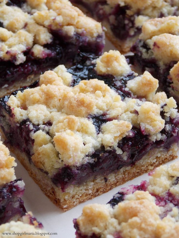 Shopgirl: Blueberry Crumb Bars | Deserts | Pinterest