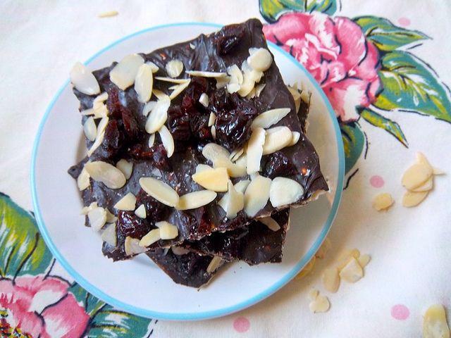 chocolate cherry almond matzo candy   Favorite Recipes   Pinterest