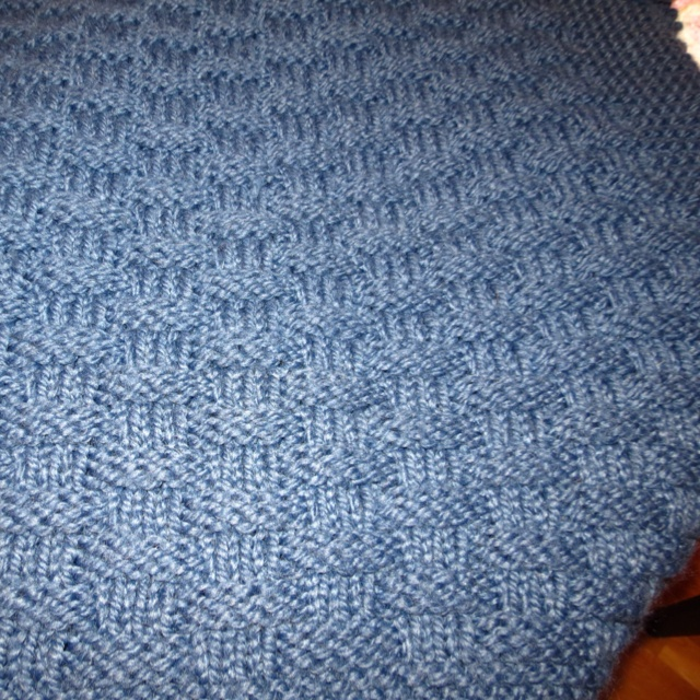 How To Do A Basket Weave Knit : Basket weave knit afghan my knitting projects