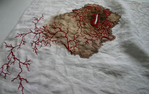 Contemporary embroidery of erin endicott textile art