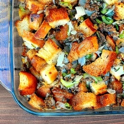 ... ] Sausage, Sage, and Thyme Bread Stuffing: A Thanksgiving classic