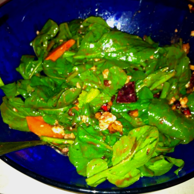 Today's Lunch: Arugula Salad with feta, pomegranate, beets, fuyu ...
