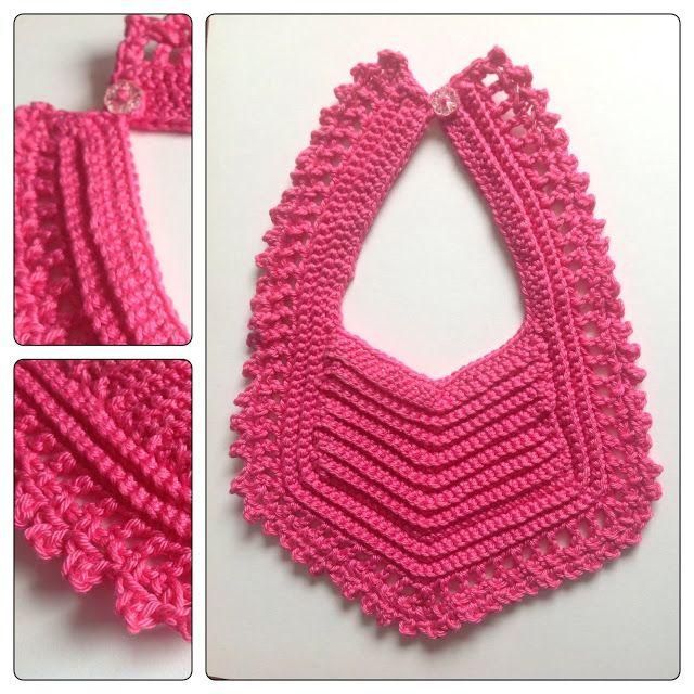Crochet Patterns Baby Bibs : Crochet Baby Bib Knitting and crochet Pinterest