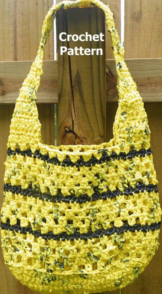 Round Crochet Bag Pattern : PDF Crochet Pattern Round Reusable CarryAll I think this could be made ...