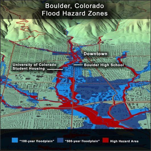 Boulder Colorado Flood Maps  Colorado Flood  Pinterest
