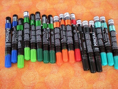 Permanent Ceramic Paint Pen Blue Free Shipping