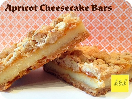 Apricot cheesecake bars with almonds | Food Porn | Pinterest
