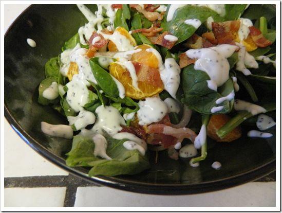 Poppy Seed Salad Dressing on a Mandarin Orange Salad