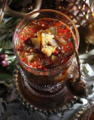 Recipe: Brown Buttered Pear Soup with Fennel Oil and Pomegranates