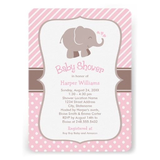 baby shower invitations pink and brown colors designed for a baby