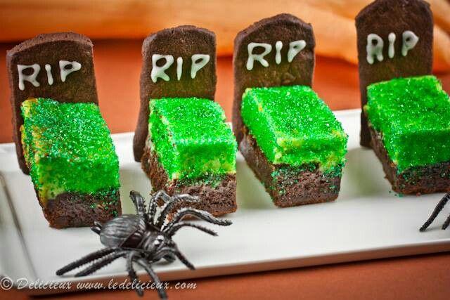 Brownie Tombstone | Halloween - Treats | Pinterest