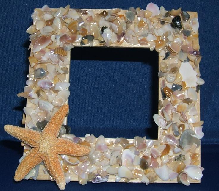 Seashell frame shell craft kit make your own seashell frame for Sea shell crafts
