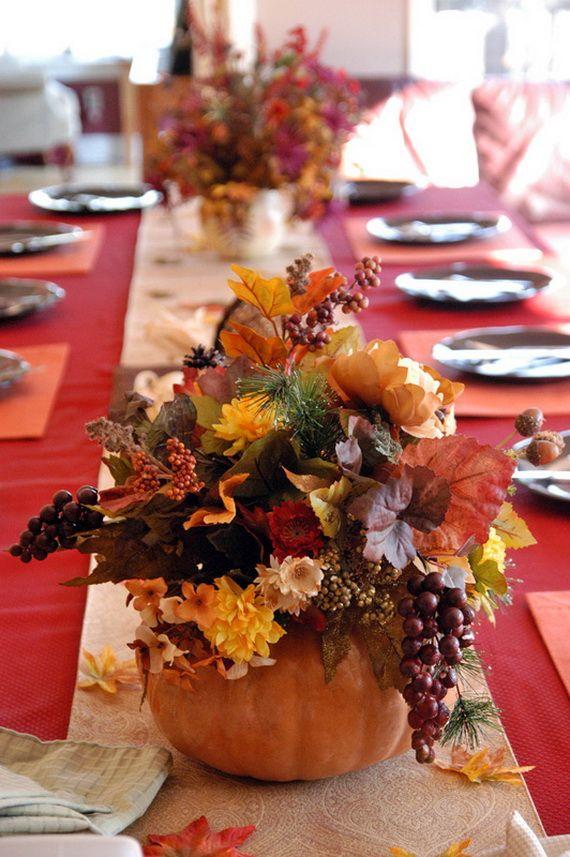 Thanksgiving table decorations autumn pinterest