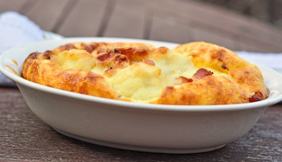 cauliflower-bacon gratin | Edibles - Side Dishes | Pinterest