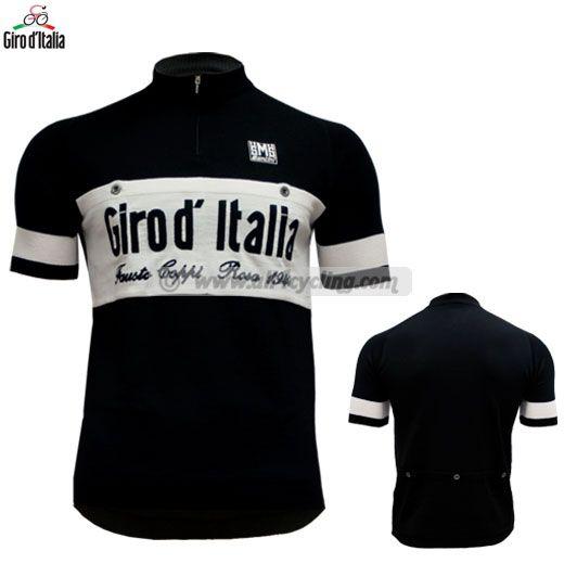 Wool black giro d italia jersey