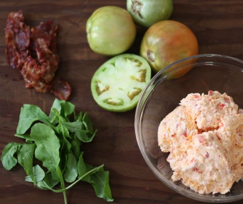 fried greet tomato blt s with pimento cheese