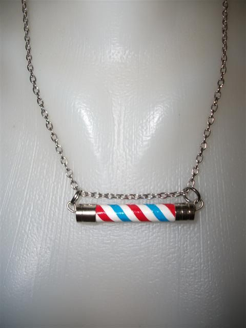 Barber Pole Necklace Unisex. Houston Texans.LA ANGELS.Texas Rangers.B ...