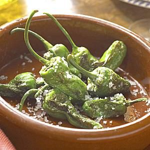 Pimientos de Padron ( Padron peppers sauteed in olive oil and drizzled ...