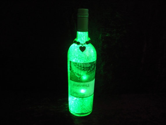 Light up wine bottles for Fun things to do with wine bottles