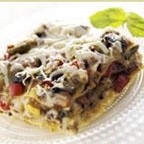 ... veggie lasagna loaded with garden vegetables and four types of cheese