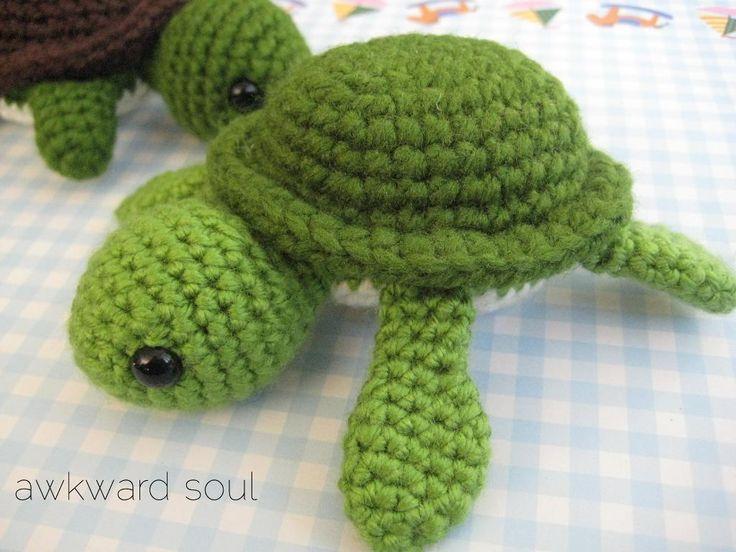 Free Amigurumi Patterns Beginners : Turtle Amigurumi Crochet Pattern Crochet Pinterest