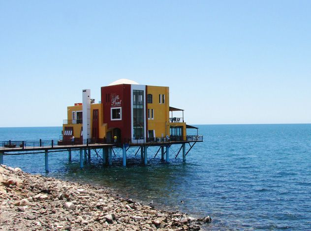 The Point restaurant in Rocky Point, Mexico. Eating over the water was ...