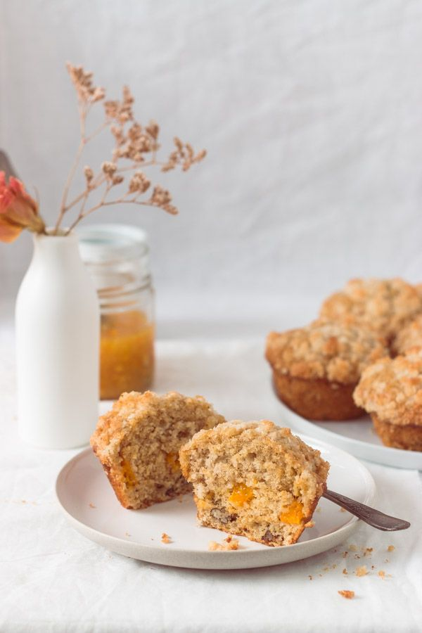 Mango Bread Muffins with Coconut Streusel