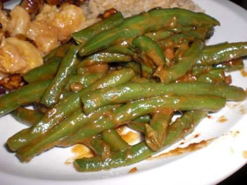 PEANUT BUTTER GREEN BEANS | Fabulous food | Pinterest