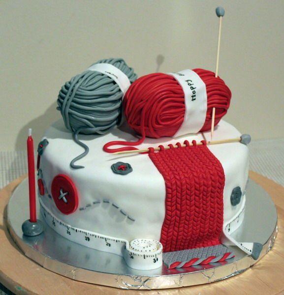 Knitting Cakes : Knitting lover cake theme cakes pinterest