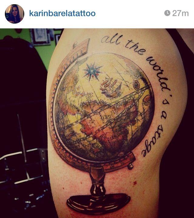 world globe tattoo tattoos pinterest
