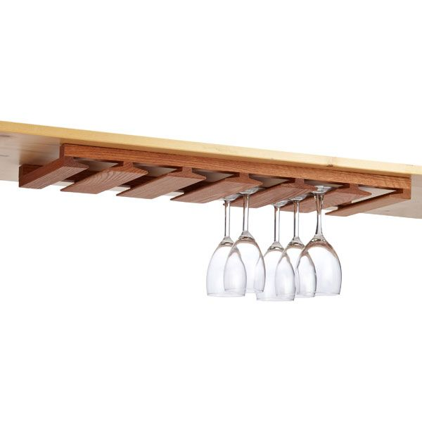 Ikea Drehstuhl Skruvsta Weiß ~ Undercabinet Stemware Rack Oak  DIY Home Improvement Projects  Pint